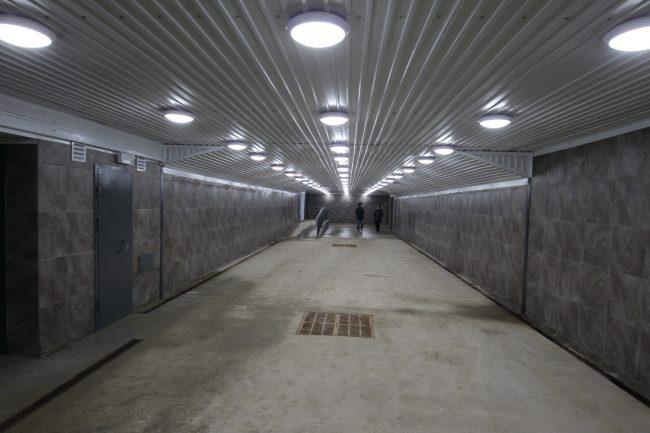 Подземный переход пешеходный тоннель железнодорожная станция Удельная