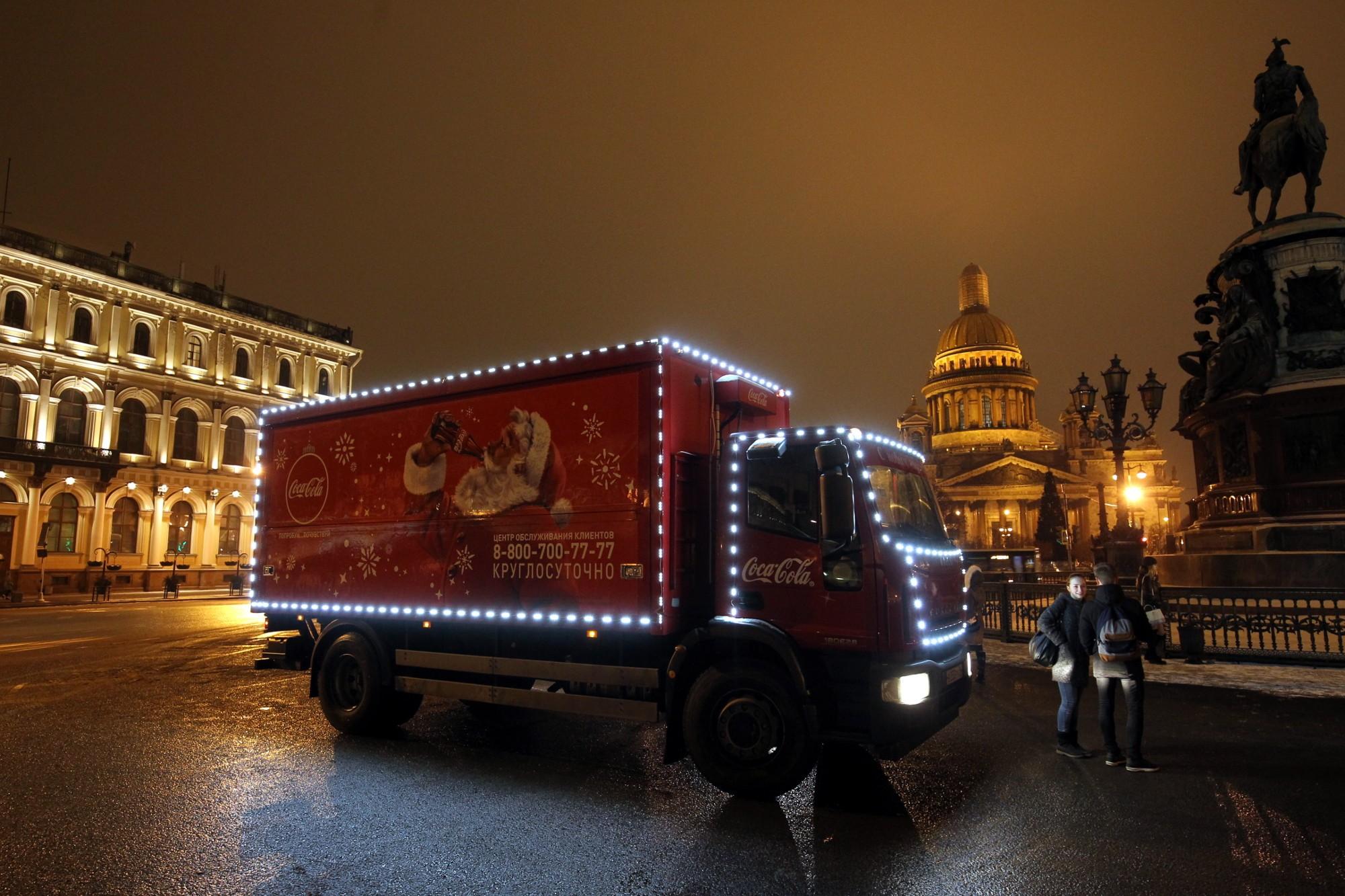 рождественский караван coca cola новый год