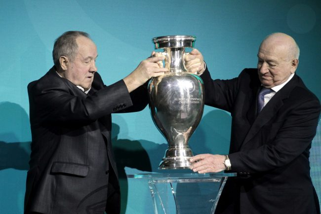 кубок Анри Делоне Никита Симонян Василий Данилов представление логотипа Петербурга Евро-2020 чемпионат Европы по футболу