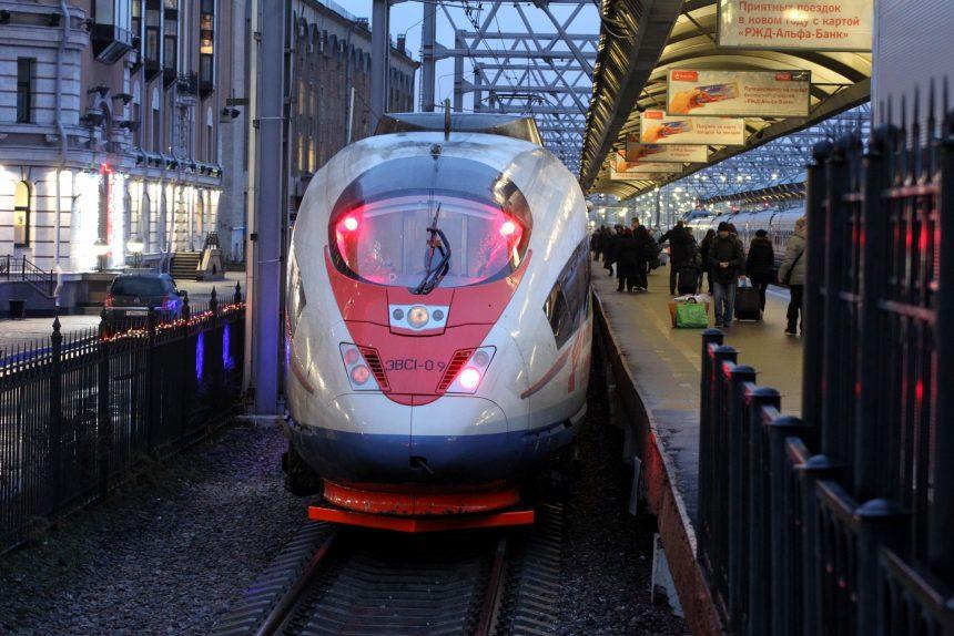 скоростной поезд сапсан московский вокзал железная дорога