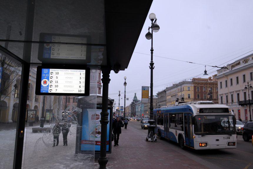 В Петербурге появится около 600 автобусных остановок