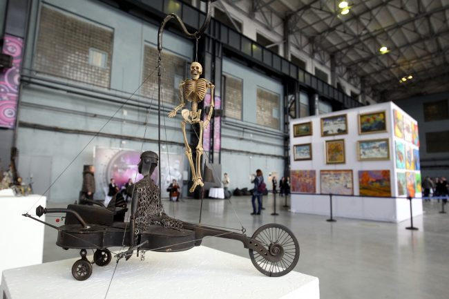 открытие творческого пространства artplay артплей красногвардейская площадь скелет