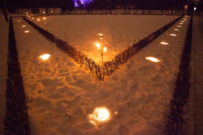 зимний вечер света