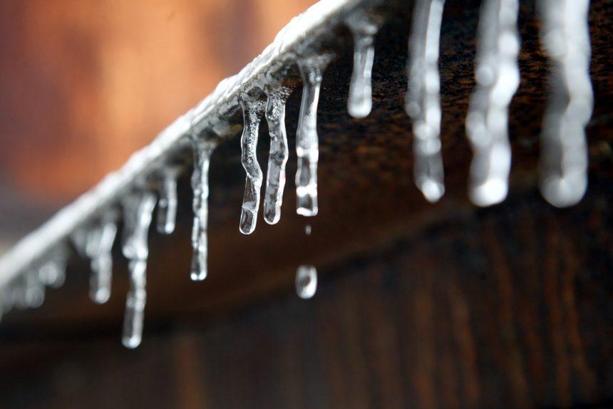 сосульки лёд капля оттепель потепление погода зима
