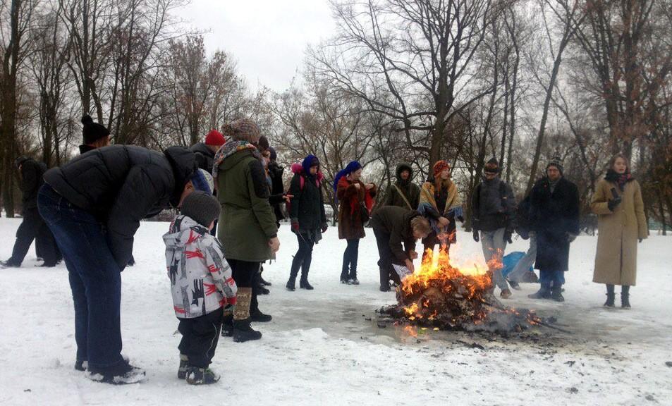 Арт-группа Родина масленица сожжение чучел