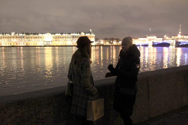 акция час земли нева дворцовый мост эрмитаж подсветка