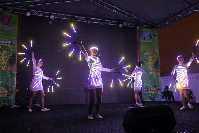 акция час земли сценическое шоу со светодиодами