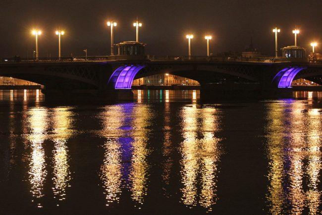 акция час земли благовещенский мост без подсветки