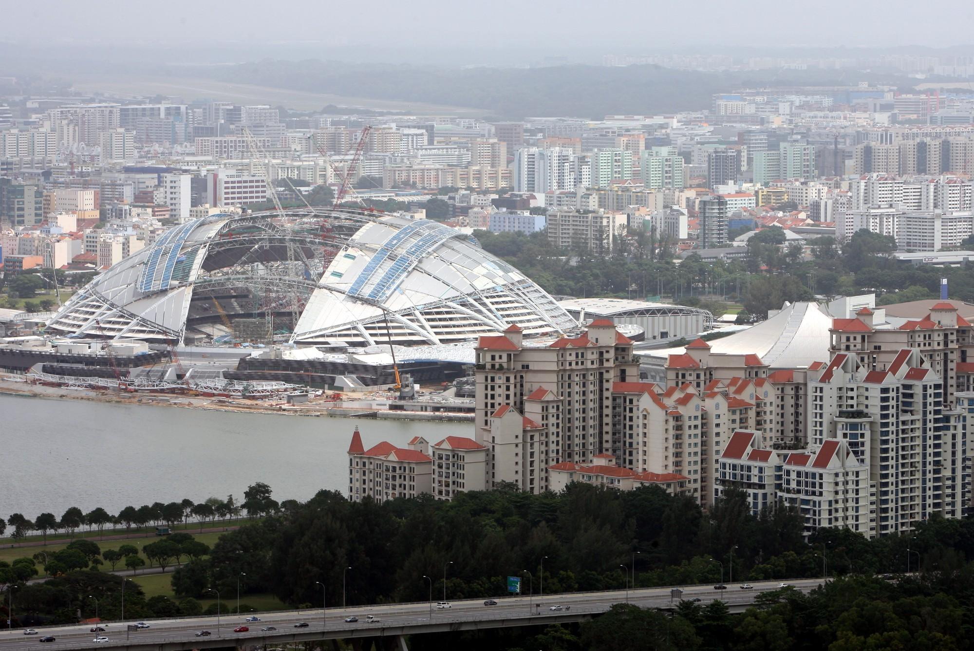 """Сингапур, Национальный стадион (январь 2014 г.) Фото: Илья Снопченко / ИА """"Диалог"""""""