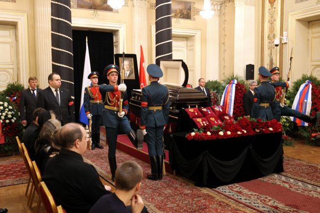 церемония прощания с Вадимом Тюльпановым Мариинский дворец почётный караул