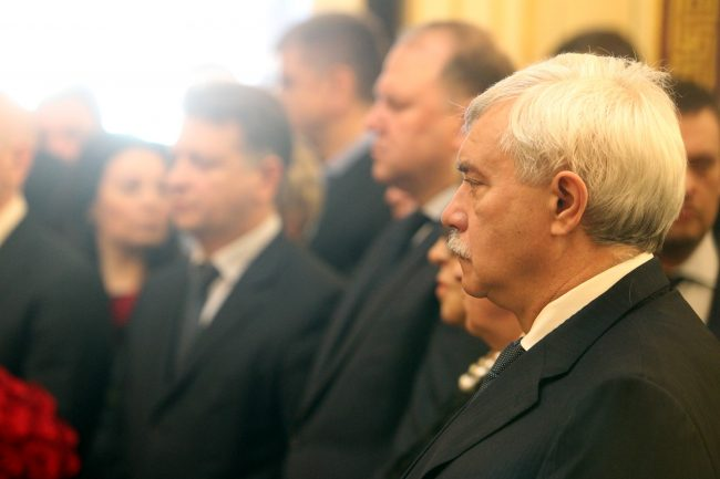 церемония прощания с Вадимом Тюльпановым Мариинский дворец Георгий Полтавченко