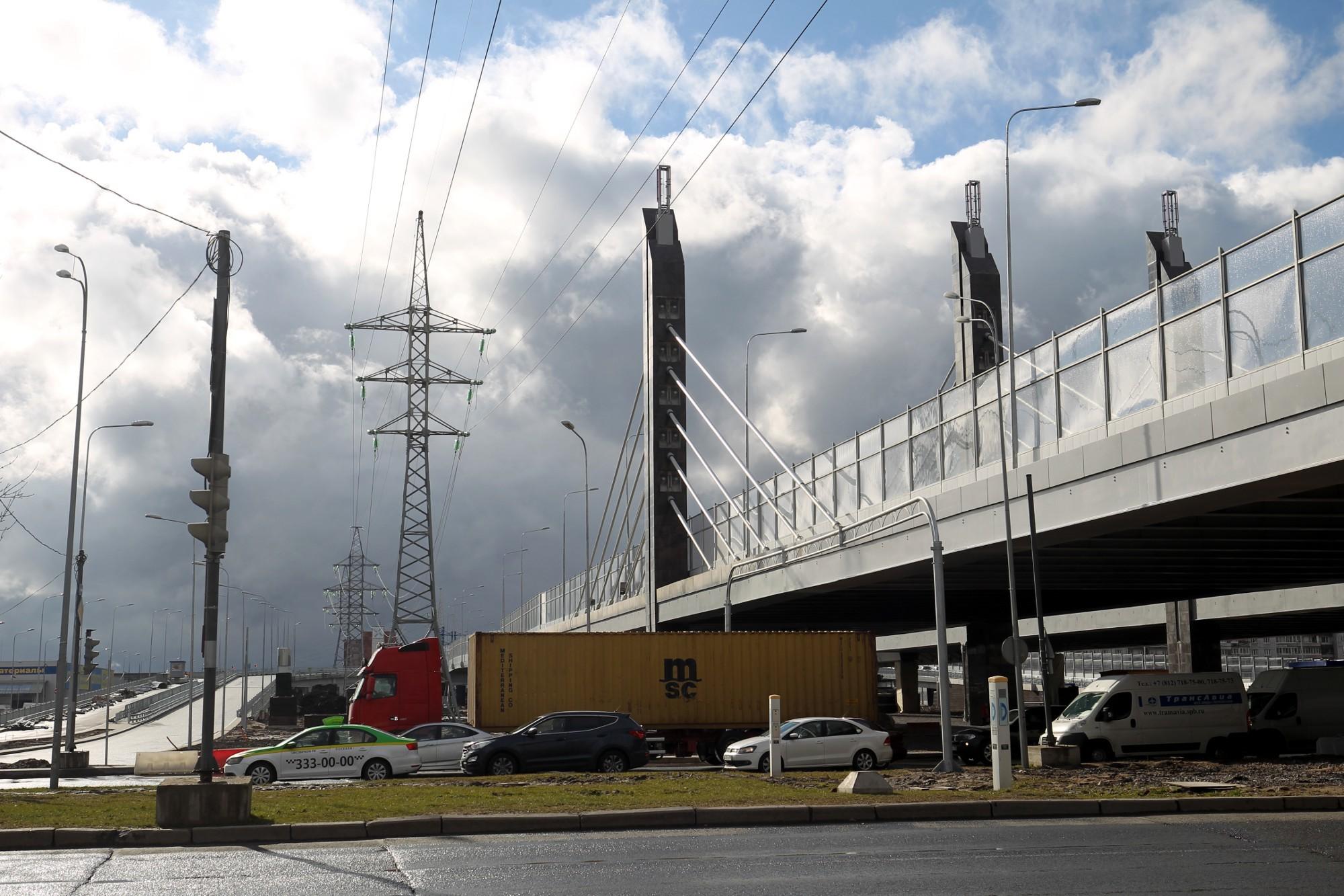 развязка пулковское шоссе дунайский проспект дорожное строительство