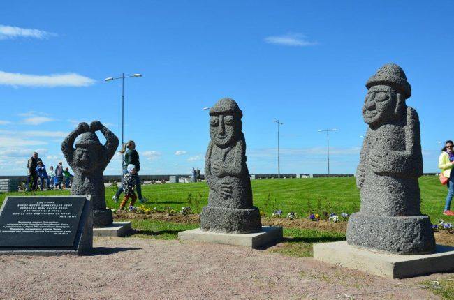 корейские каменные скульптуры идолы Дольхарбан