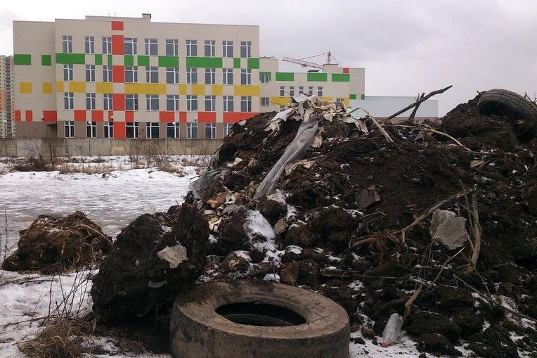 несанкционированная свалка строительный мусор нелегальная помойка отходы Шушары
