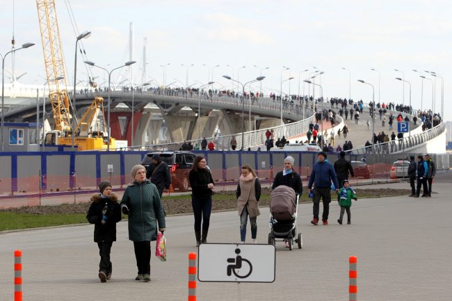 Яхтенный мост стадион Санкт-Петербург Зенит-Арена на Крестовском