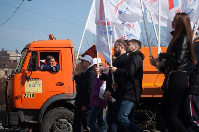 первомайская демонстрация первое мая коммунальное хозяйство автомобиль поливалка