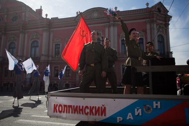 первомайская демонстрация первое мая реконструкторы колпинский район