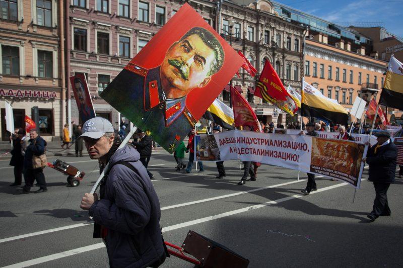 первомайская демонстрация первое мая коммунисты иосиф сталин