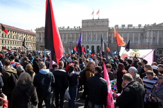 первомайская демонстрация первое мая Исаакиевская площадь Мариинский дворец