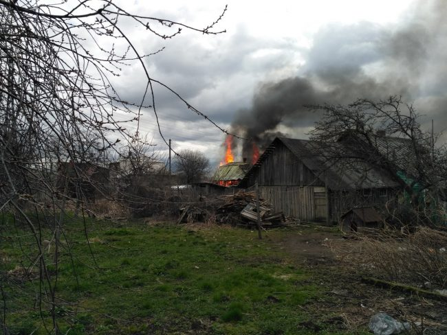 новосаратовка деревянные дома пожар