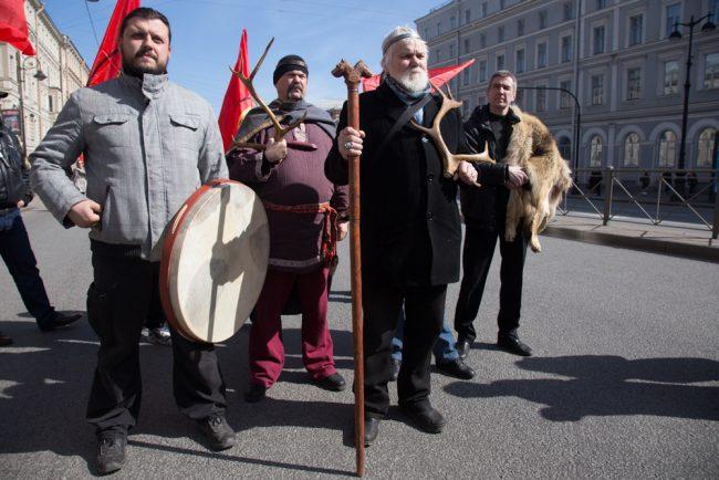 первомайская демонстрация первое мая родноверы язычники