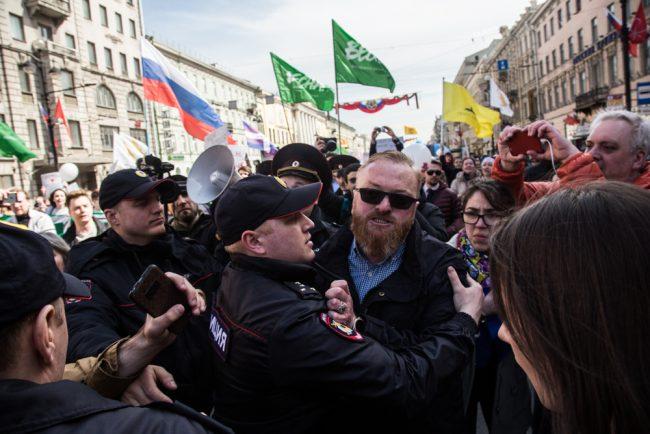 первомайская демонстрация первое мая Виталий Милонов полиция