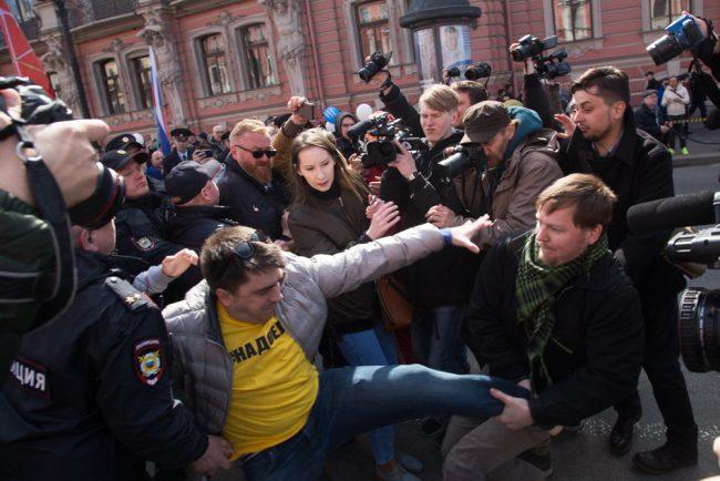 первомайская демонстрация первое мая оппозиция задержание
