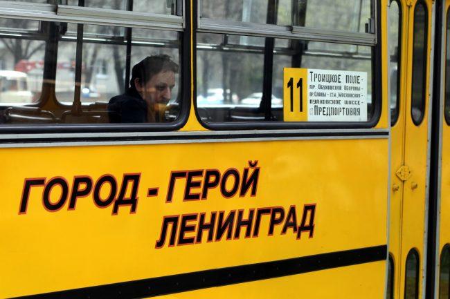 парад ретроавтомобилей транспорт автобус Ikarus 260 Город-герой Ленинград