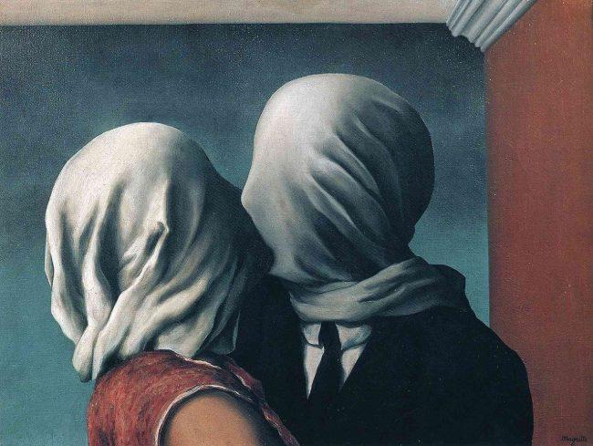 поцелуй влюбленные магритт