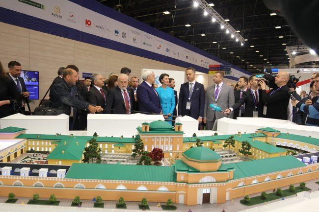 На ПМЭФ представили проект реконструкции здания Конюшенного ведомства