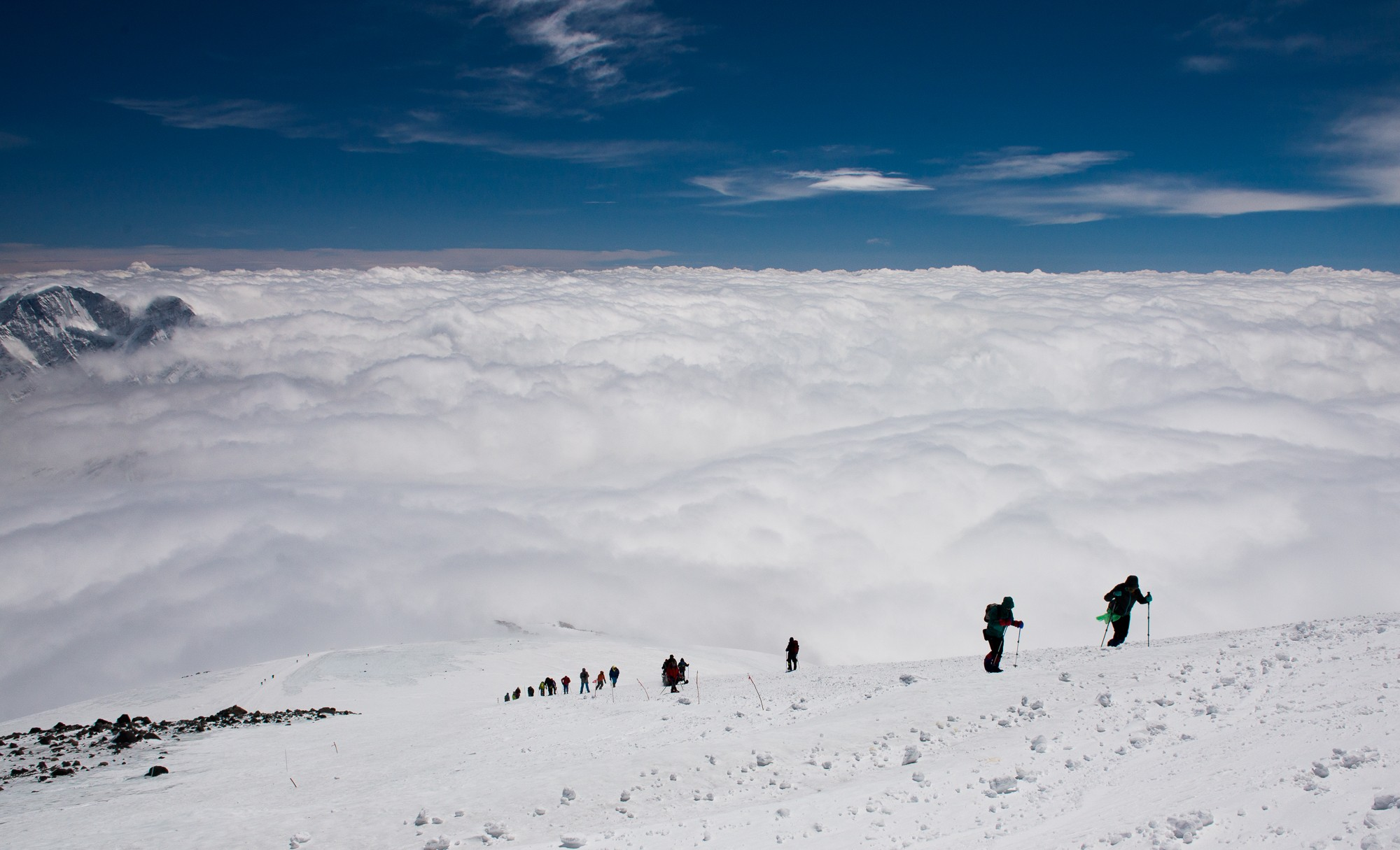 Подъем после ледника к приюту