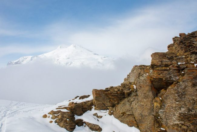 вид на эльбрус с горы чегет