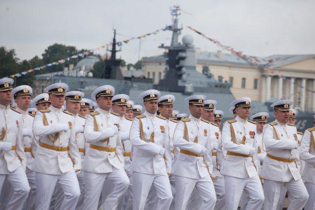 парад день военно-морского флота вмф моряки военные корабли