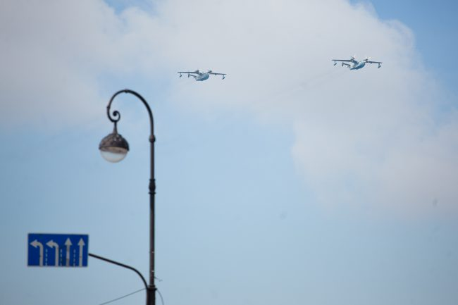 парад день военно-морского флота вмф самолёты
