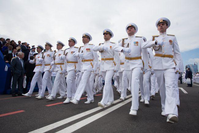 парад день военно-морского флота вмф моряки