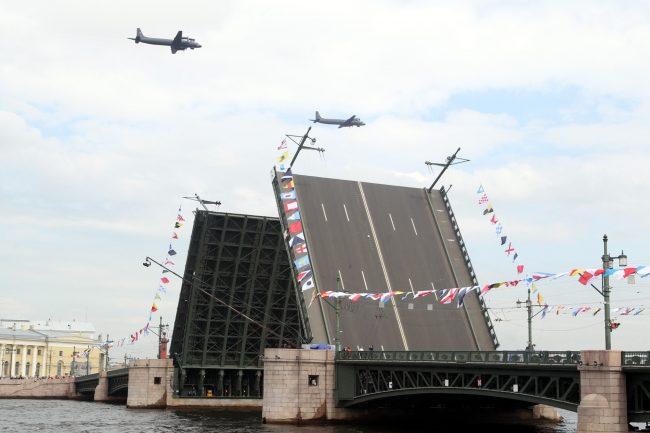репетиция парада день ВМФ зрители авиация военные самолёты