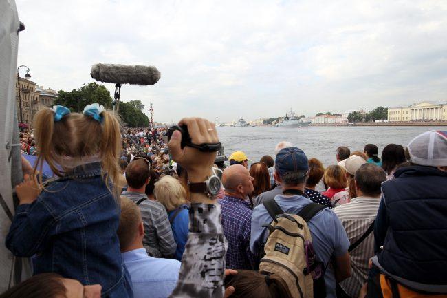 репетиция парада день ВМФ зрители