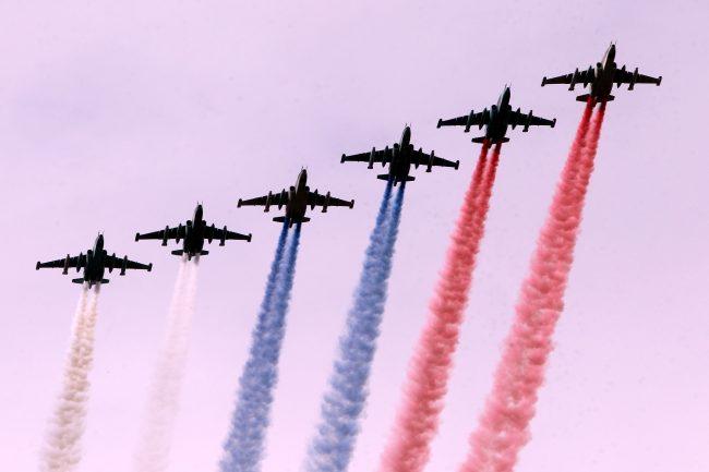 парад день военно-морского флота вмф самолёты российский флаг триколор