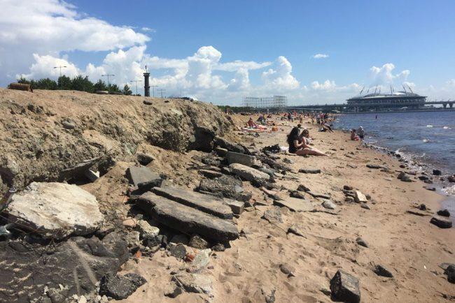 пляж мусор парк 300-летия