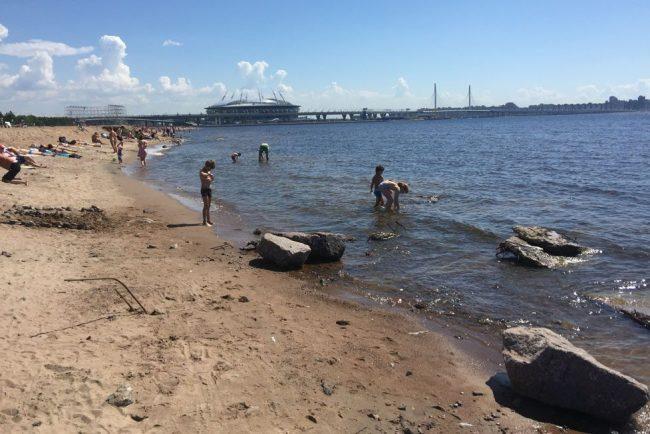 пляж мусор парк 300-летия дети