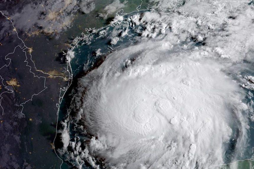 ураган шторм харви из космоса