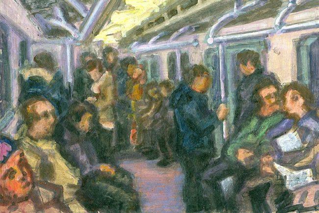 Андрей Филиппов. В вагоне. 2016 метро