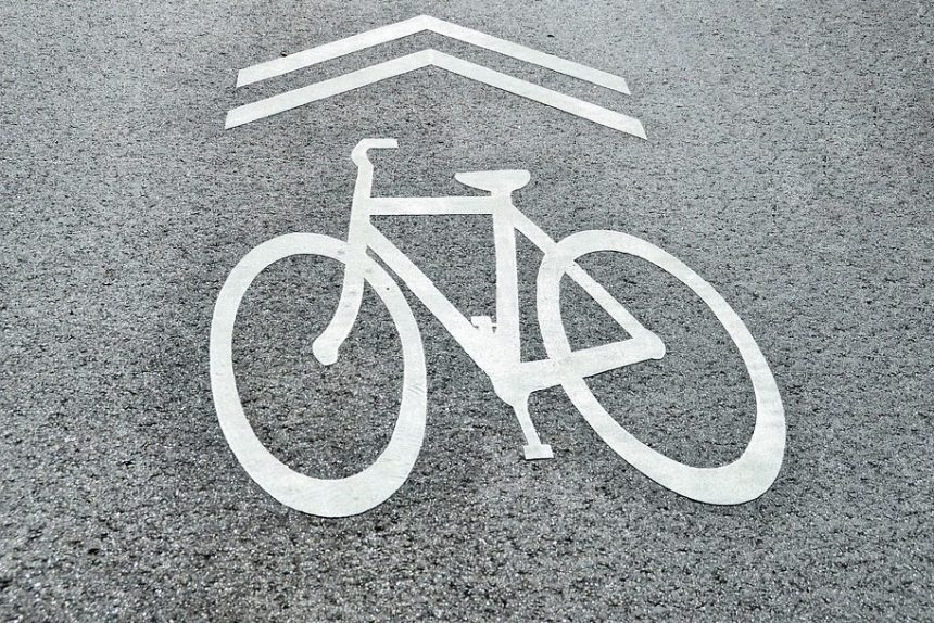 велодорожка знак велосипед