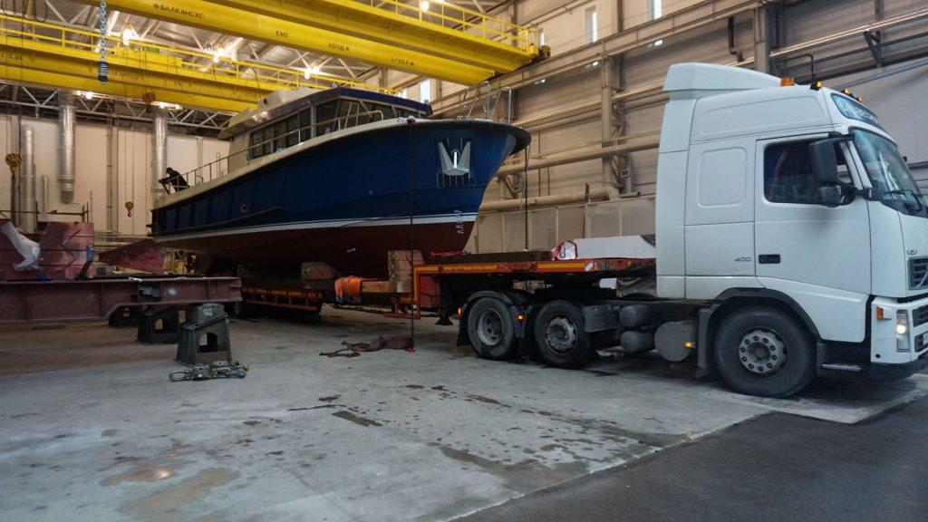 На Средне-Невском судостроительном заводе спустили на воду многоцелевой катер «Рондо»