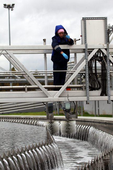 канализация очистка сточных вод северная станция аэрации пробы воды водоканал
