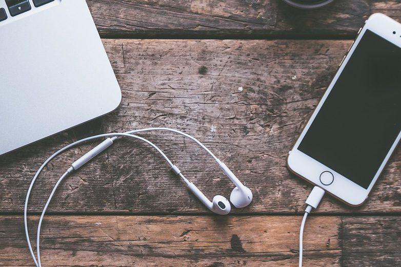 наушники, телефон, музыка
