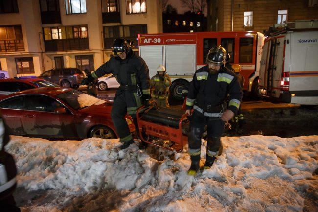 взрыв в магазине на Кондратьевском проспекте пожарные мчс