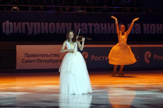 Чемпионат России по фигурному катанию открытие скрипка