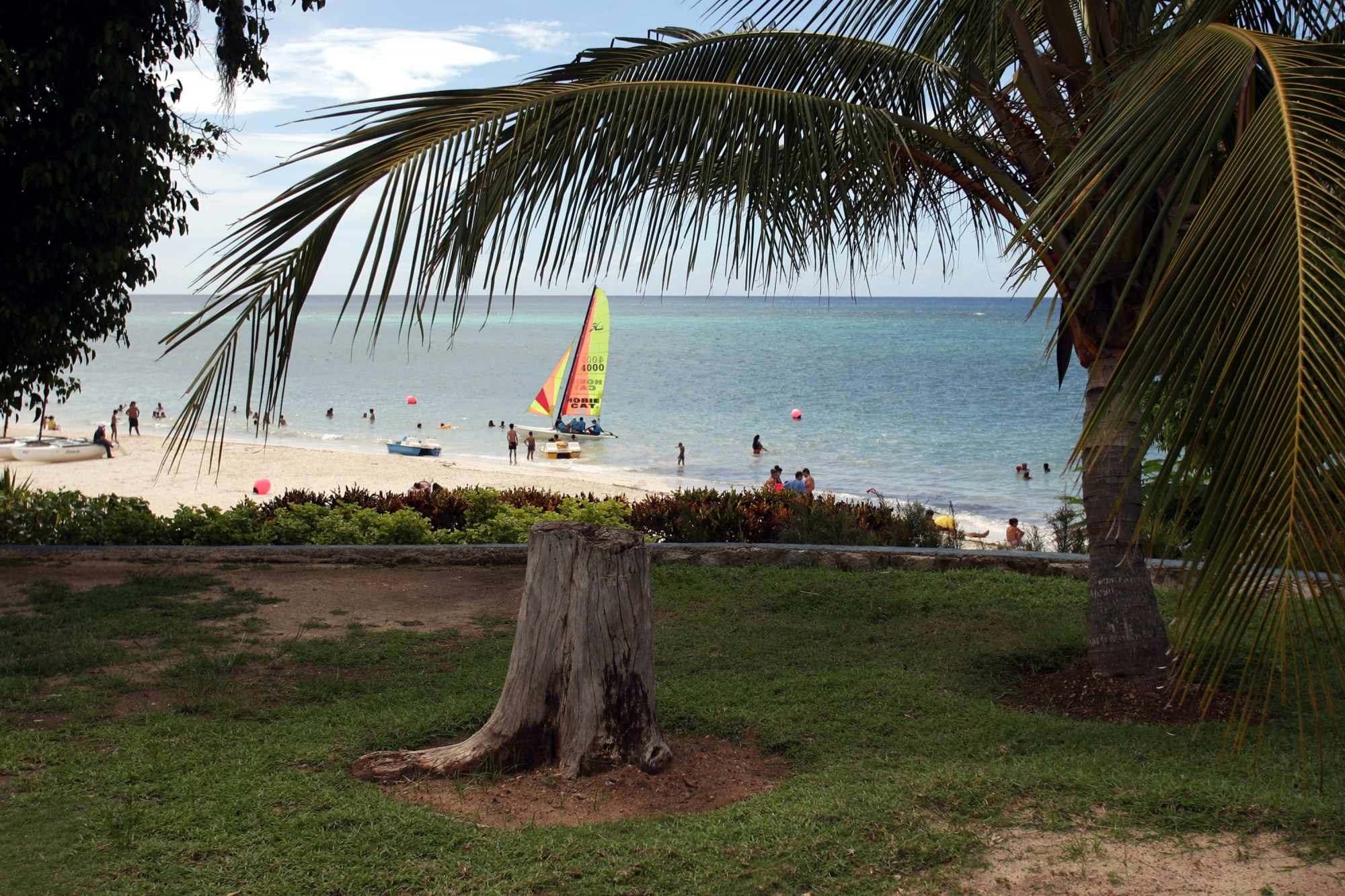 тропики пляж курорт отдых Куба море яхта