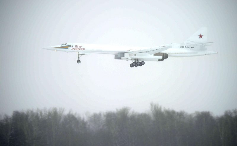 военная авиация бомбардировщик Ту-160М Пётр Дейнекин